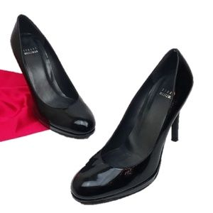 Stuart Weitzman Shoes - Stuart Weitzman Black Patent Leather Heels Pumps